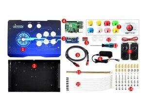 Image 5 - Waveshare Arcade C 1P Arcade Console Raspberry Pi 3B + controller Supporta RetroPie KODI HDMI/USB/Ethernet 1080P Risoluzione