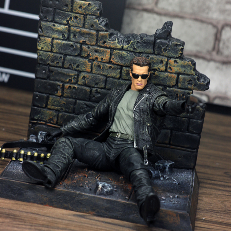 Image 5 - NECA Terminator 2 Judgment Day T 800 Arnold Schwarzenegger PVC Action Figure Model Toy Christmas GiftAction & Toy Figures   -