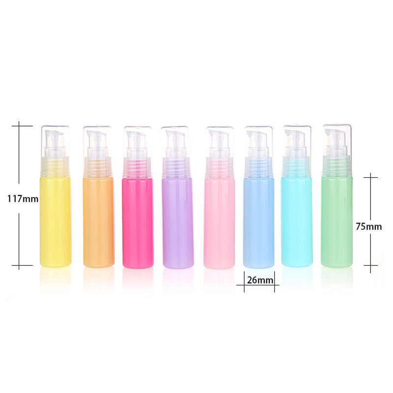 Siliconen Mini Lege Draagbare Reizen Lotion Gel Parfum Flessen Cosmetische Container Flessen Verstuiver 10 Ml/30 Ml Spray Fles