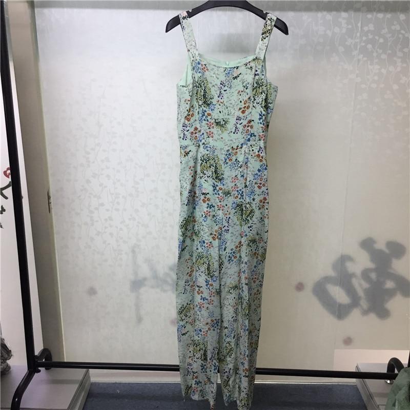 Impresión Seda Verano Correa Las Moda Vestido Mujeres Mujeres Espaguetis Floral De 2018 La Playa wa0OqUU