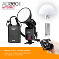 Godox AD360 II Witstro AD360II-C TTL On/Off-Camera Flash Speedlite for Canon DSLR Cameras PB960 Battery Pack+X1 Wireless Trigger