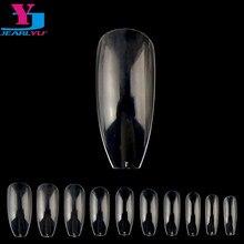 Bara – ensemble de Faux ongles transparents, 500 pièces, vernis à ongles, cercueil artificiel, Faux ongles, conseils d'art, bricolage