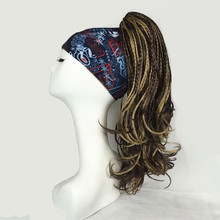 Strongbeauty braids 땋은 dreadlocks 클립 온 포니 테일 클로/턱 클립 헤어 피스 블랙/다크 브라운 롱 스트레이트 합성 헤어