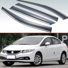 Для Honda Civic 2012 2013 пластиковые наружные козырьки вентиляционные шторы окна Защита от солнца и дождя отражатель