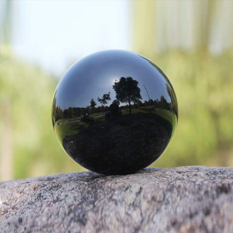Crystal Ball Large Quartz Glass Balls Healing Stone Obsidian Sphere Home Decorating Tools Desktop Decoration Crafts Black