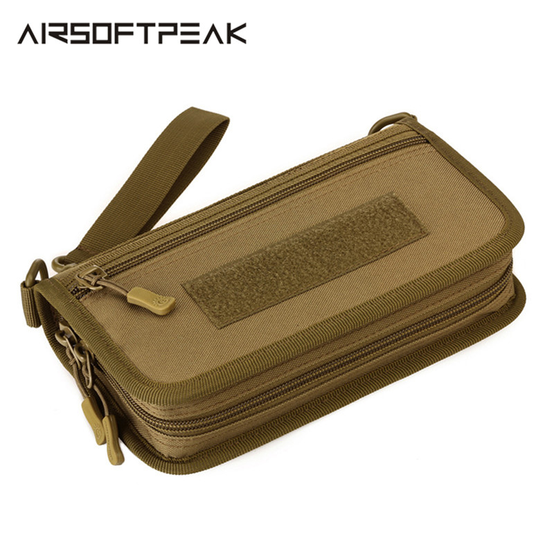 1000D Nylon Outdoor Tactical Hand Bag 6 Inch Military Sports Mobile Phone Wallet EDC Pouch Hunting Camping Travelling Wrist Bag