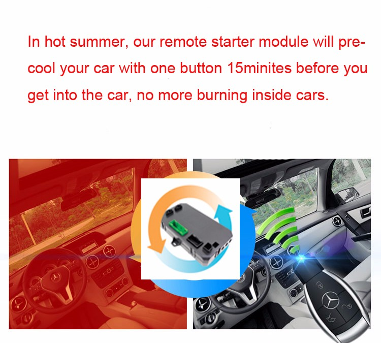 2016 New Car Accessories For Benz W212 E300 Car Remote Start Engine Preheat Car In Winter And Precool Car In Summer