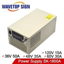 Fuente de alimentación conmutada para laboratorio, fuente de alimentación conmutada de SK 1800A, 36V, 50A, 48V, 35A, 60V, 30A, 120V, 15A