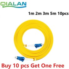 LC UPC parche de fibra óptica Cable dúplex 2,0mm PVC puente óptico modo único FTTH fibra parche Cable conector LC