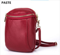 The First Layer Of Leather Double Wallet Phone Purse Korean Handbag Messenger Mini Bag New Large