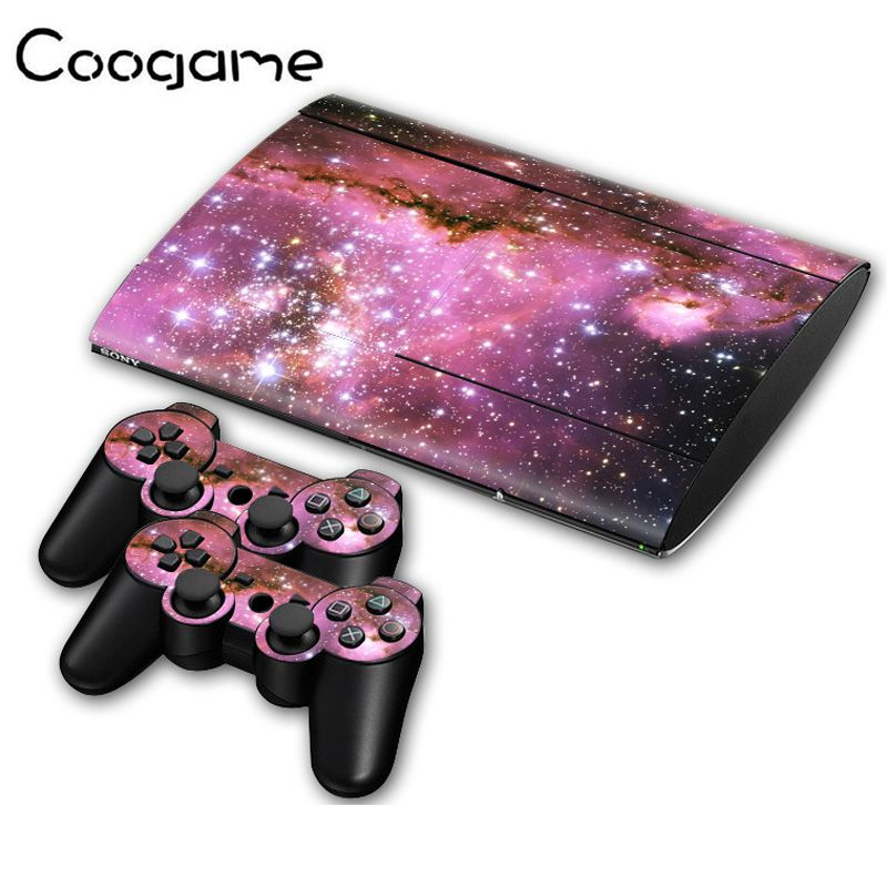 Starry Sky Sticker For PalyStation 3 Slim 4000 Console Sticker & 2 Controller Decal For Sony Slim4000 Star Stickers