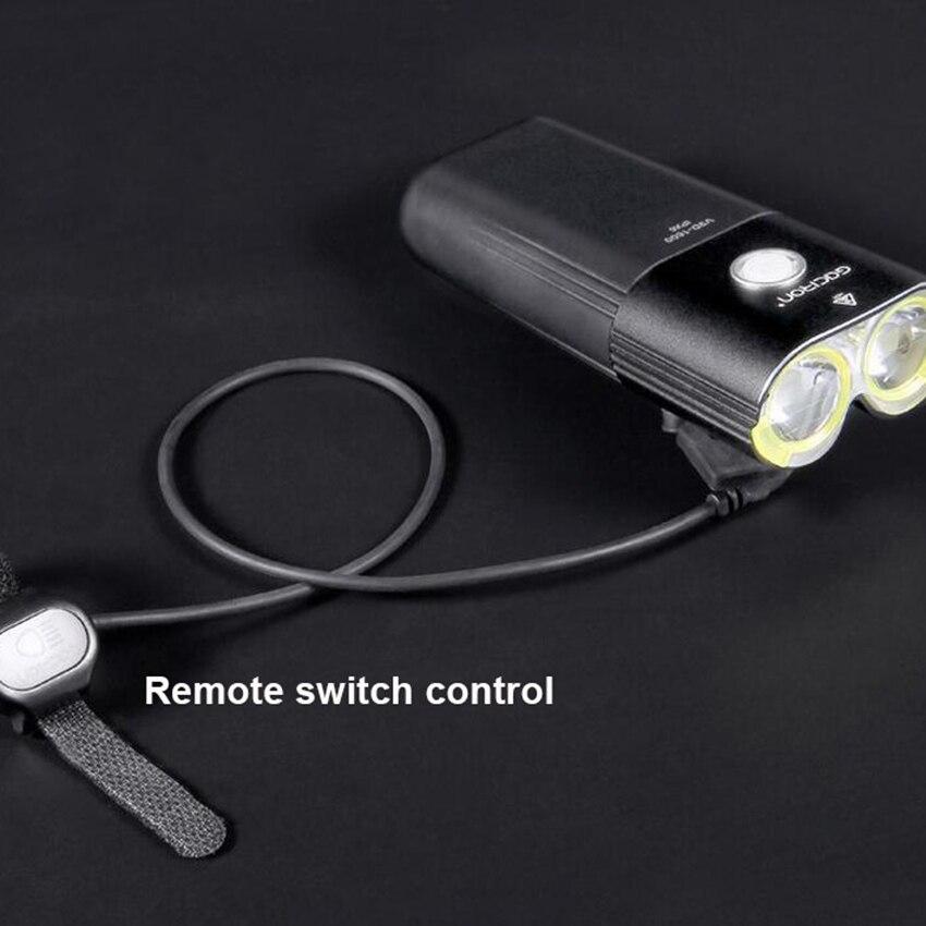 GACIRON 1600 люмен велосипедный светильник MTB головной светильник внешний аккумулятор водонепроницаемый USB Перезаряжаемый светильник для шоссе... - 5
