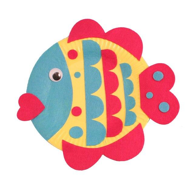 Online Shop 5 PCs children color paper plate DIY toys/ kindergarten ...