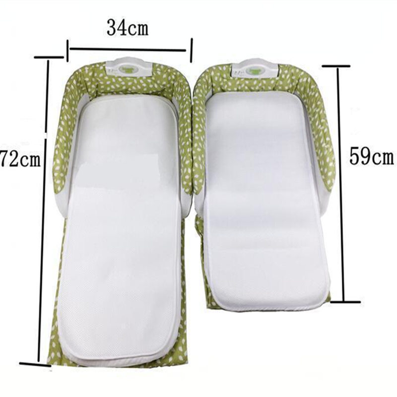 0-12 Months Baby Safety Isolation Beds Baby Crib for Newborns Portable Foldable Baby Cradle Bed Outdoor Travel Folding Bed