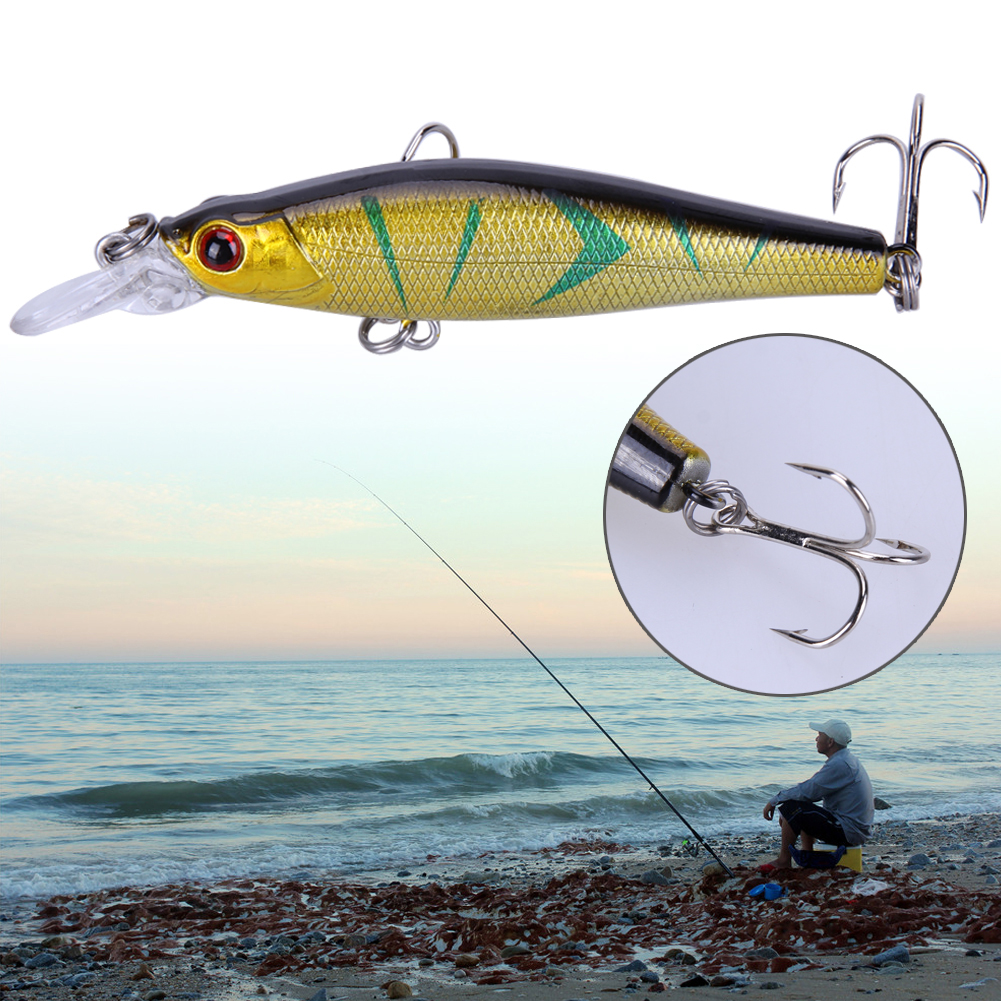 6pcs/set Fishing Fake Lures Deep Diving Hard Bait 8.5CM/9G Artificial Lifelike Wobblers Baits Minnow Fishing Tackle Accessories