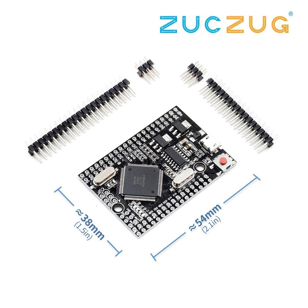 Mega 2560 PRO (Embed) CH340G/ATmega2560-16AU, With Male Pinheaders. Compatible For Mega 2560.