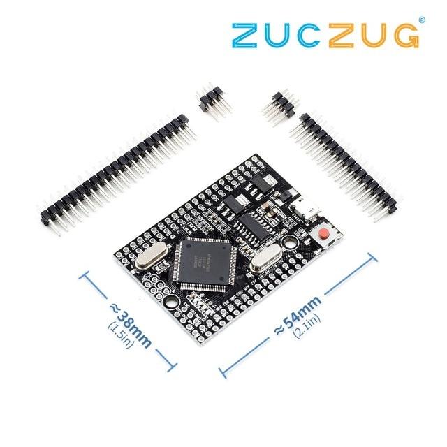 Mega 2560 PRO (Embed) CH340G/ATmega2560 16AU, with male pinheaders. Compatible for Mega 2560.