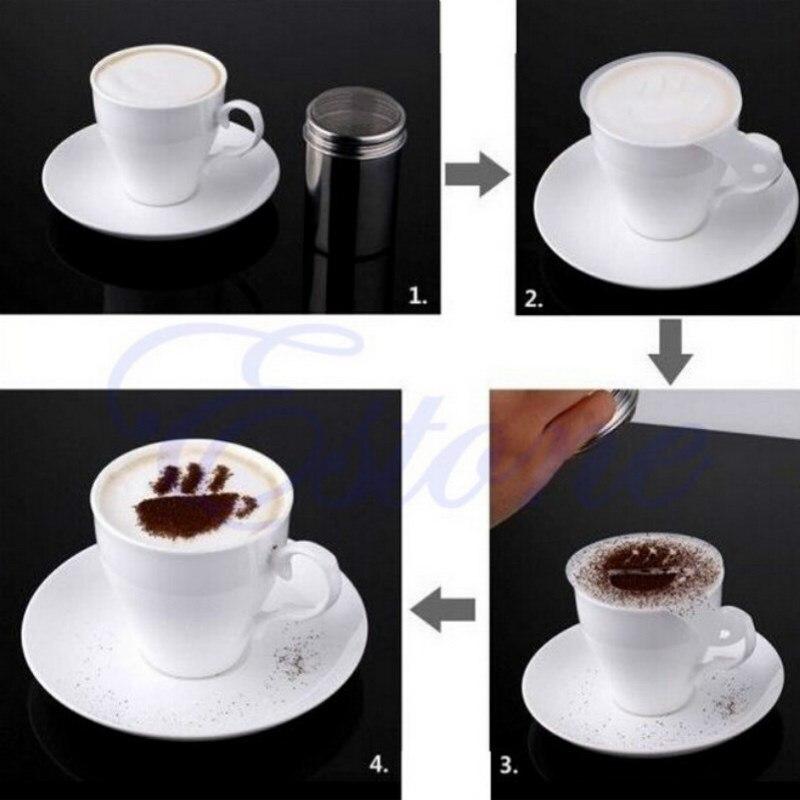 Kreative 16 stücke DIY Phantasie Kaffee Muster Barista Schablonen ...