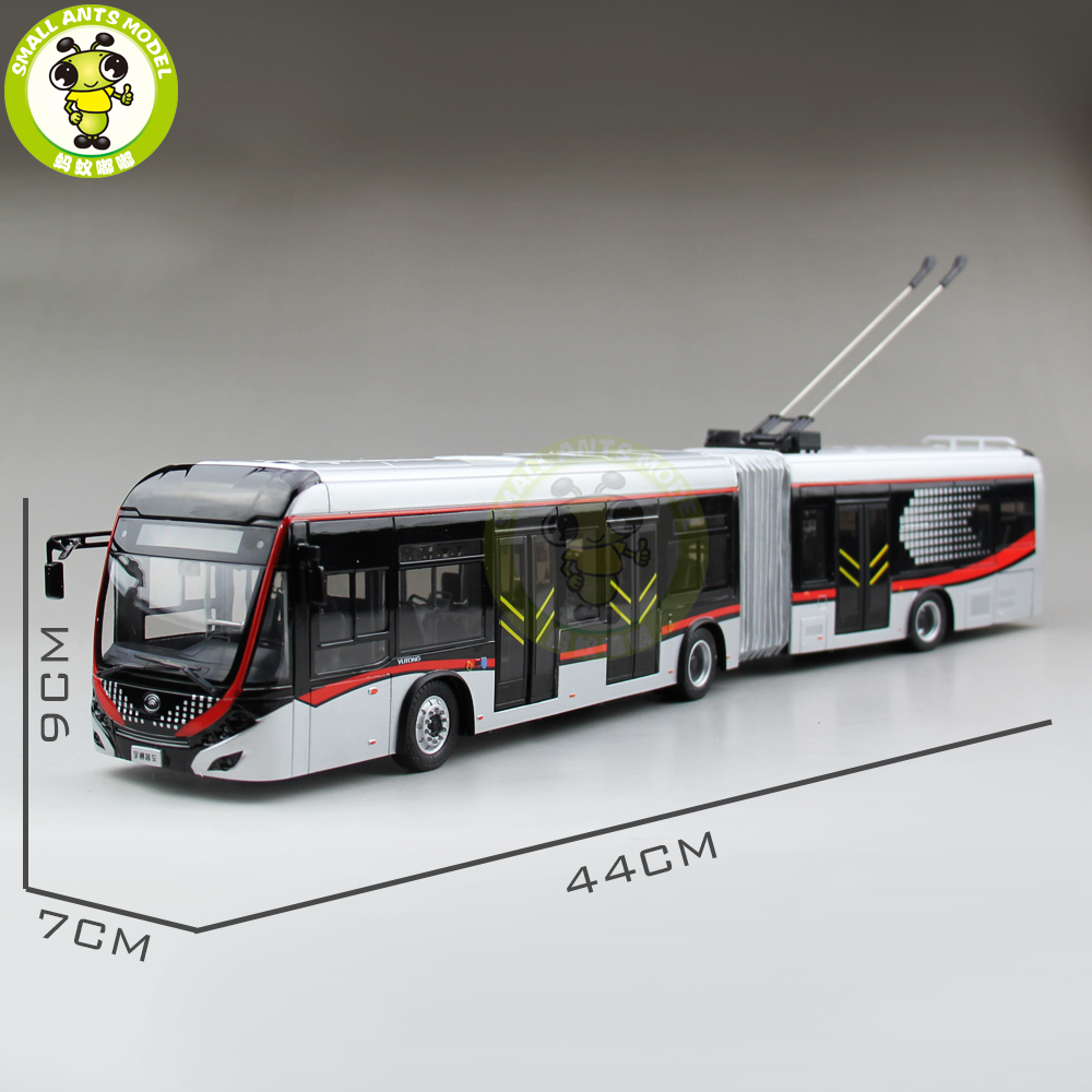 1/42 YuTong Bus ZK5180A City Bus Trolleybus Articulated Bus Diecast Bus Model Gift Collection Hobby