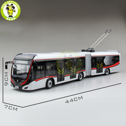 1/42 YuTong Bus ZK5180A Stadt Bus Trolleybus Gelenk bus Diecast Bus Modell Geschenk Sammlung Hobby