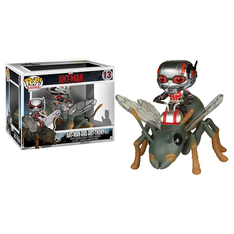 Marvel AntMan Riding Wasp Thony Super Hero Ant-Man and the Wasp with Bobble Head Vinyl Dolls Figure Toy kids Christmas Gifts manluyunxiao 2018 movie ant man and the wasp cosplay costume halloween carnival wasp costume for women jumpsuit custom made