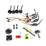 2X CW 2X CCW Emax Simonk MT2204 2300KV Brushless Motor+4pcs 12A ESC +Mini CC3D FPV Flight Controller