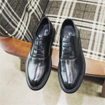 Salvaje Brillante Trajes Hombres Mayor Engrosamiento Zapatos Black Viento Moda 2018 Británico Banquete Casuales pRXwq