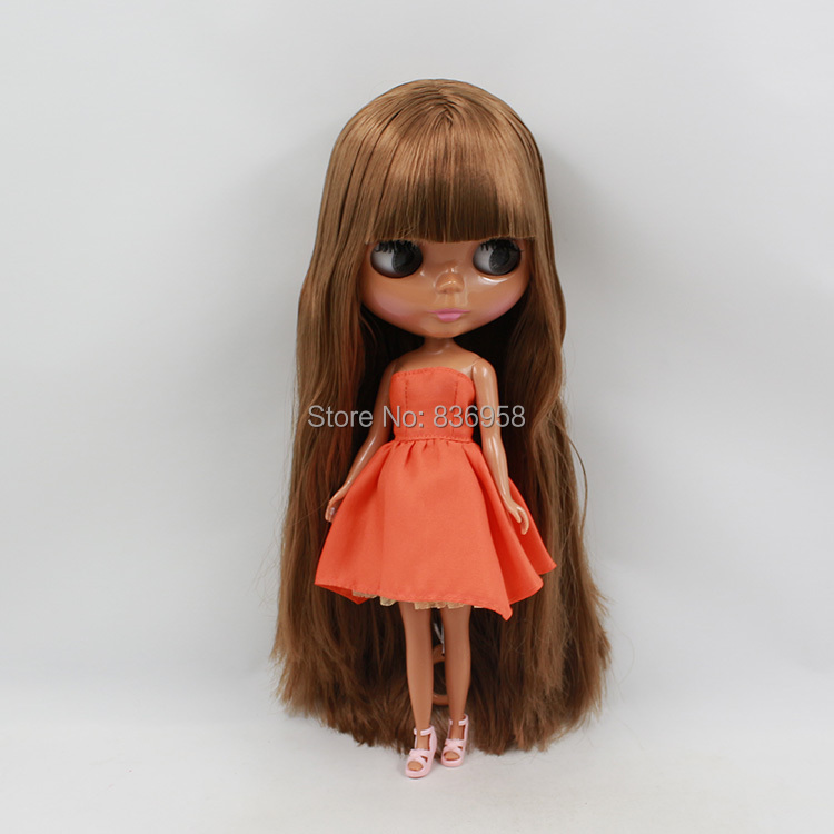 Nude Doll For Series No.280BL0623Bangs BROWN HAIR nude doll for series no 2237 bronze hair
