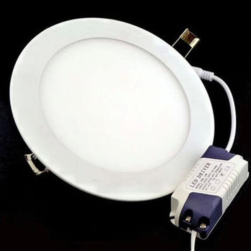 6 Вт из светодиодов светильники утопленный ультратонкий из светодиодов индикаторы панели вокруг 85 ~ 265 В теплый белый потолочный светильник ...
