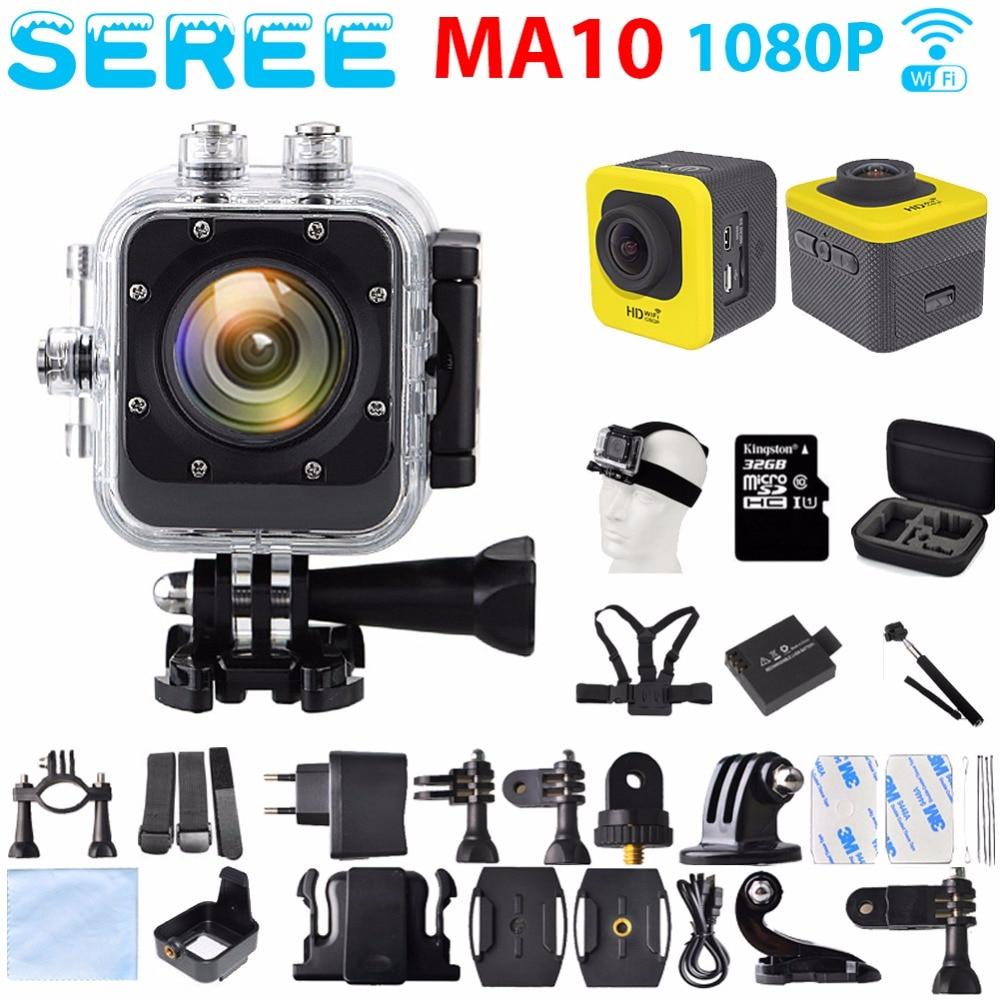 ФОТО Seree 2017 Latest Extreme Sport Action Camera MA10 WIFI Full HD Mini 30M Waterproof Camera 1080P Video Camcorder