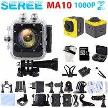 Seree 2017 Последние Экстрим Действий Камеры MA10 WI-FI Full HD Mini 30 М Водонепроницаемая Камера 1080 P Видеокамера