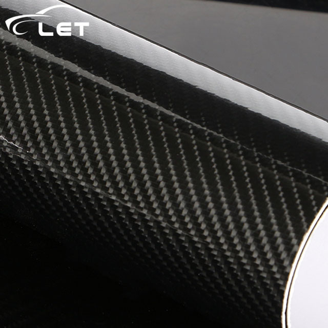 Car Styling high glossy 5D black carbon fiber vinyl film carbon fiber car wrap sheet Roll film tool Car sticker Decal maluokasa 127cmx30cm 3d auto carbon fiber vinyl film carbon car wrap sheet roll film paper motorcycle car stickers decal sticker