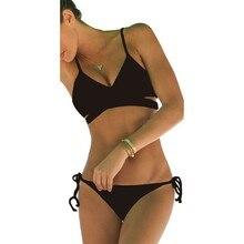 De las mujeres Ropa de Playa Bikini Set traje de Baño Push-Up Con Relleno Sujetador traje de Baño