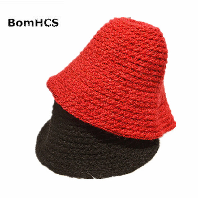 c1ee4abe0 US $10.98 |BomHCS Autumn Winter Fashion Fisherman Handmade Knitted Hat  Women Lady Curling Crochet Wool Beanie Cap-in Skullies & Beanies from  Apparel ...