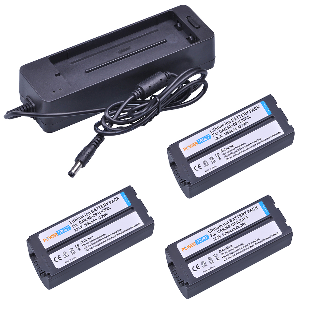 Здесь можно купить  PowerTrust 3x NB-CP2L CP2L NB-CP1L Battery with Charger for Canon SELPHY CP100 CP200 CP220 CP330 CP400 CP510 CP600 CP710   Бытовая электроника
