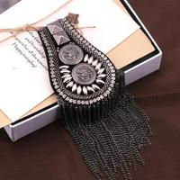 Большие броши для платье классное винтажные роскошные металла кисточка эполет мода значки плечо флэш E06