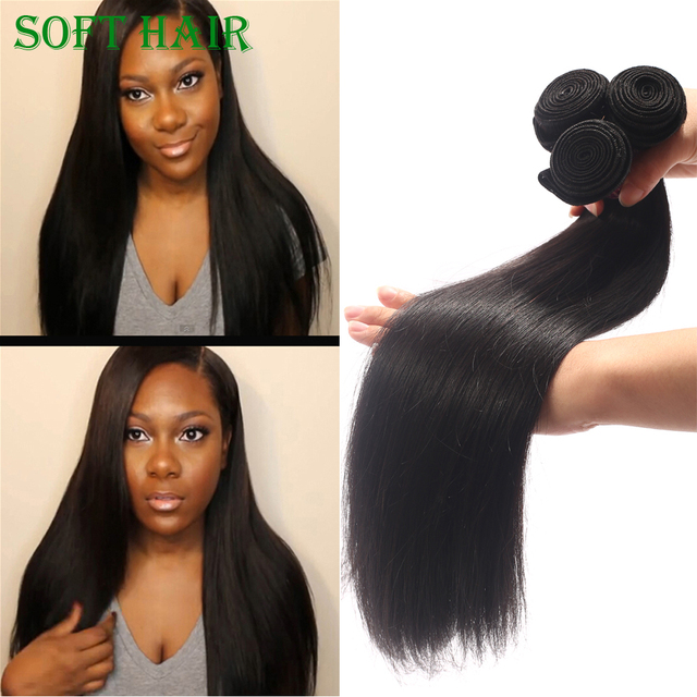 Bella Hair Soft And Smooth Straight Raw Indian Temple Human Hair