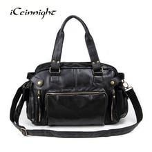 ICeinnight 2017 Специальное Предложение Старинные мужчины сумка PU кожаные сумки Дизайнер высокого качества большой емкости путешествия Мужчины Сумка