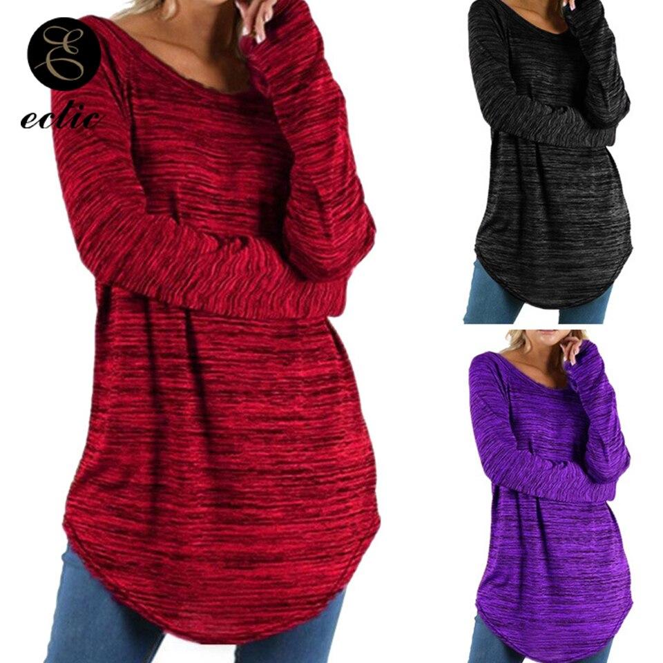 Tunic Big Size T Shirt Women 5xl Solid Color Vetement Femme 2019 The Office Irregular T Shirt Extra Long Sleeve Tie Dye Tshirts