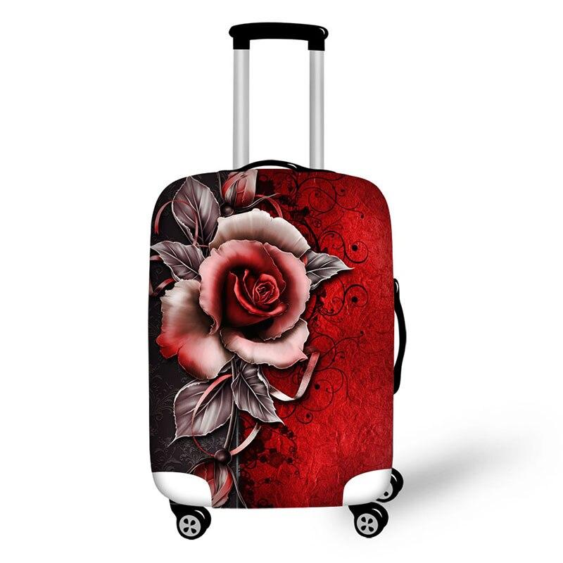 Travel Malas De Viagem Cover Waterproof Luggage Protective Rose Cover  For Suitcases Fundas Para Maletas De Viaje Mala De Viagem