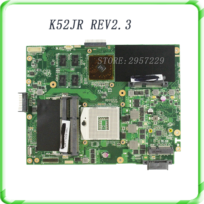 Original K52JU K52JR laptop motherboard for ASUS  HD 6370M 1GB HM55 Chipset REV2.3A DDR3 4 Memory High quality free shipping ju m chrysanthemum tea herbal tea stone ju m premium ju m 50g