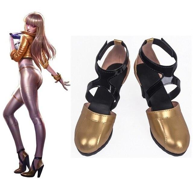 Oyun LOL Cosplay K/DA Kaisa Cosplay Ayakkabı LOL KDA Kaisa Cosplay çizmeler kadın ayakkabıları LOL Kaisa Yeni Cilt Cosplay Ayakkabı özelleştirmek