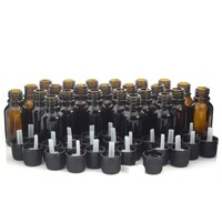 12 X 5ml Amber Glass Bottles Roll On Vials With Stainless Steel Roller Ball Black Cap