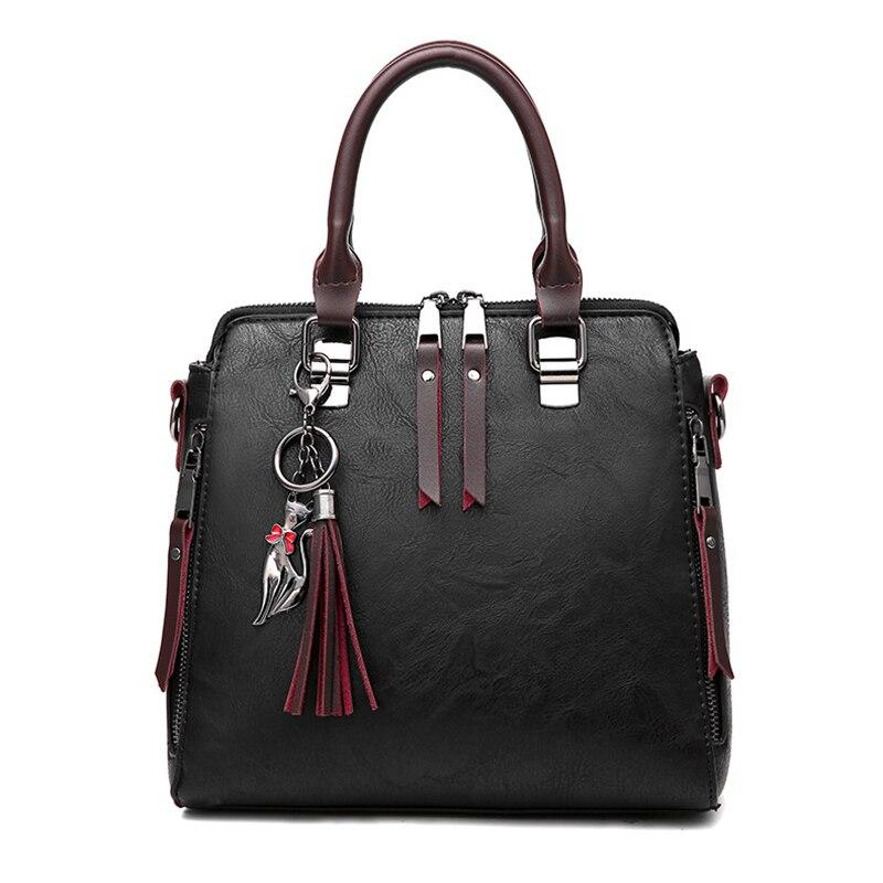 цена на Women's Fashion Handbag Beautiful Lady Crossbody Bag Elegant Pu Leather One Shoulder Handbags Shopping Bag black