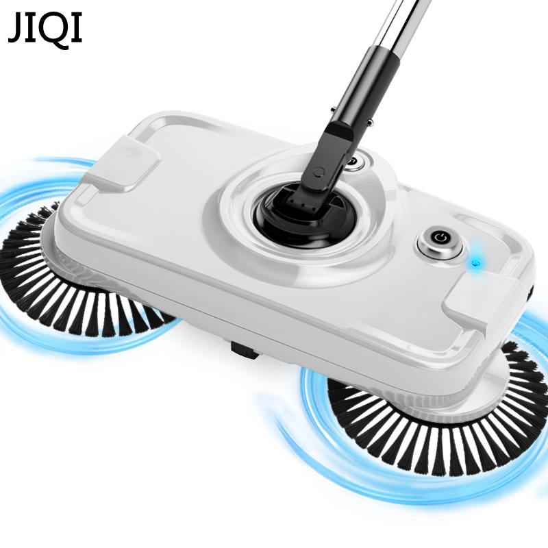JIQI Chargable Hand push sweeping mopping machine Sweeper mop wireless household appliances cleaner dustpan set broom