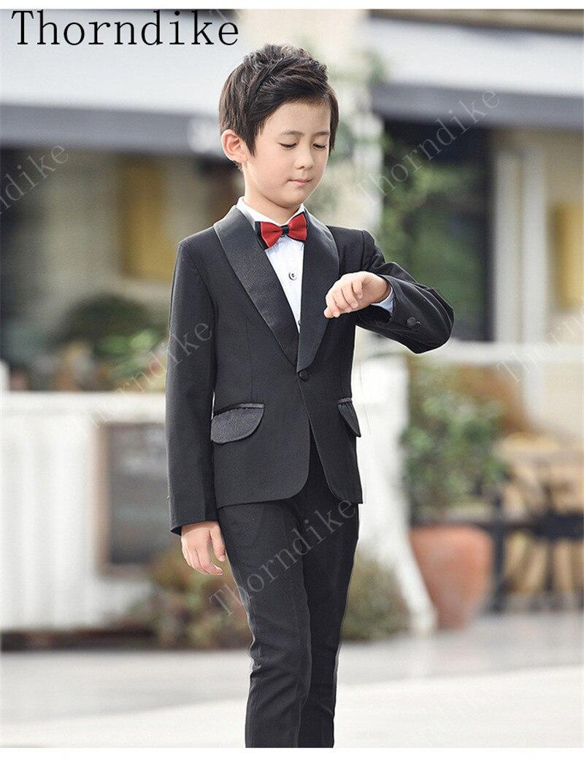 Thorndike 2019 Schal Revers Neue Junge Anzüge Kleidung Anzug Für Hochzeit Junge Party Anzüge Plaid 2 stück Mantel + Hosen jungen Geburtstag Anzug-in Anzüge aus Herrenbekleidung bei  Gruppe 1
