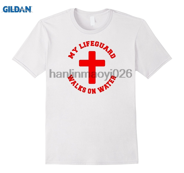 e387d789a7e GILDAN My Lifeguard Walks On Water T Shirt-in T-Shirts from Men's Clothing  & Accessories on Aliexpress.com | Alibaba Group
