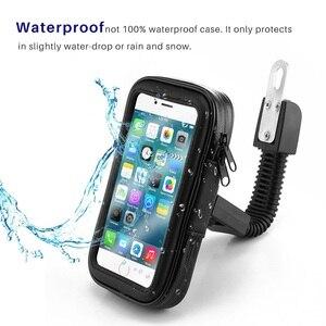 Image 4 - Untoom עמיד למים אופנוע אופנוע טלפון מחזיק טלפון סלולרי הר Bracket עבור סקוטר Rearview מירור Stand עבור iPhone Xiaomi