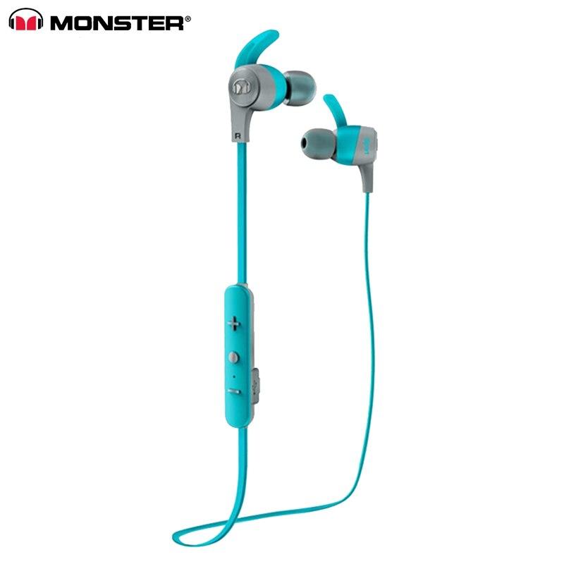 Original Monster iSport réaliser des écouteurs de sport intra-auriculaires sans fil avec micro en cours d'exécution anti-transpiration réduction du bruit Bluetooth écouteurs