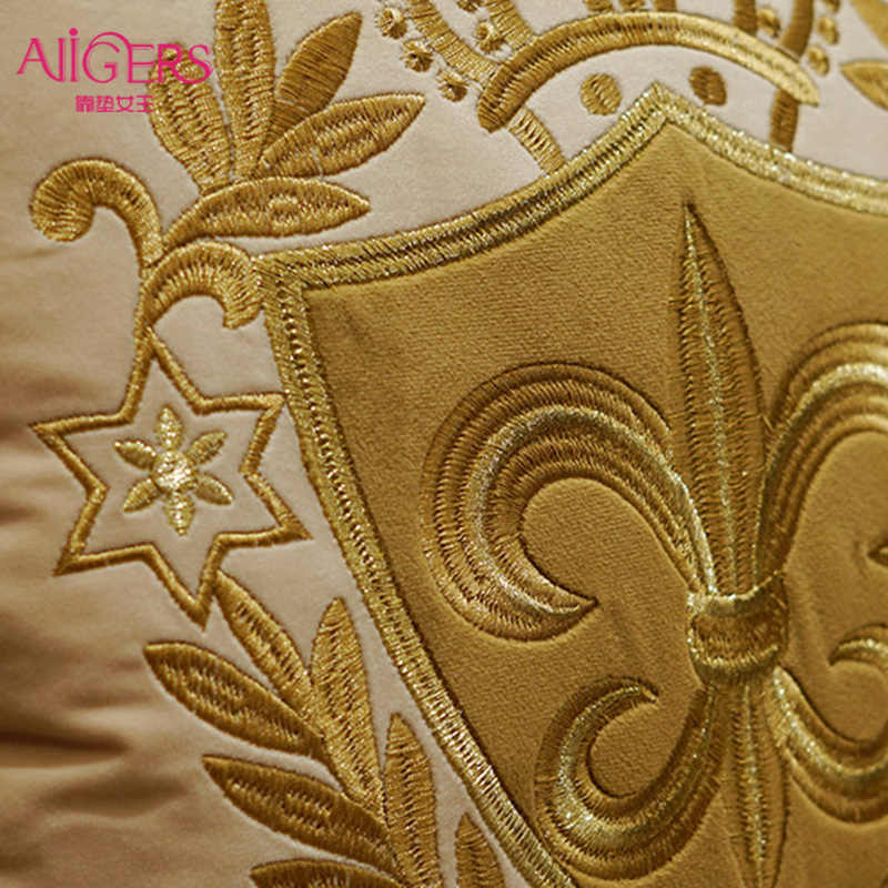 Avigers luxe broderie housse de coussin velours européen taie d'oreiller or taie d'oreiller géométrie maison décorative canapé jeter oreiller
